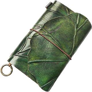 دفتر مذكرات جلدية مذكرات جميلة الأعمال A5 دفتر يوميات للسفر للنساء لوحة كتاب فارغة ويرباوند مذكرة ملاحظات دائم (اللون: أخضر)