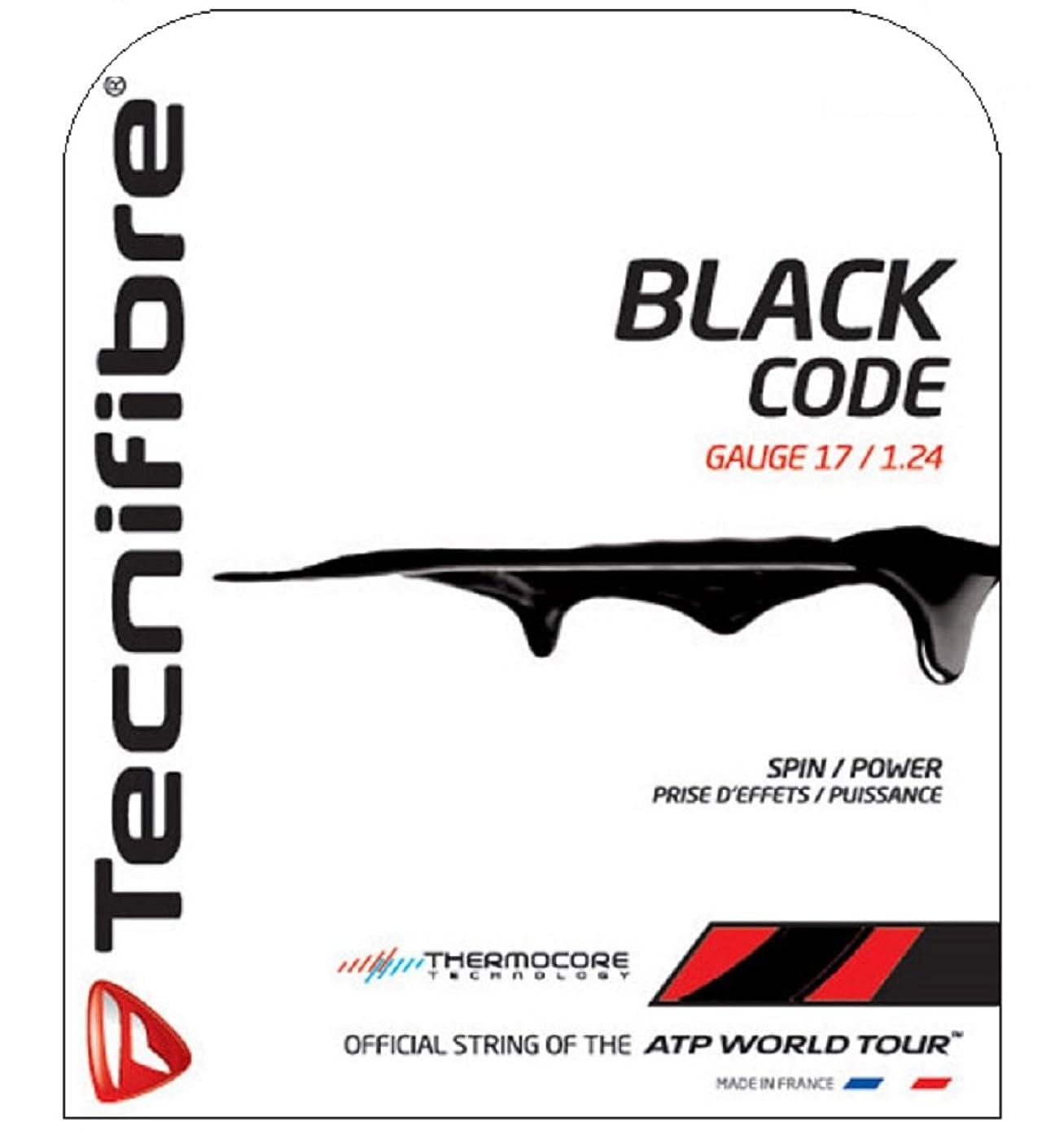 オリエンテーション法廷よりテクニファイバー(Tecnifibre) テニス ガット ブラックコード BLACK CODE 12m