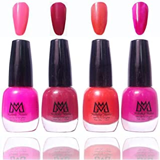 Makeup Mania Premium Nail Polish Exclusive Nail Paint Combo (Light Purple, Orange, Brown, Pink, Pack of 4)