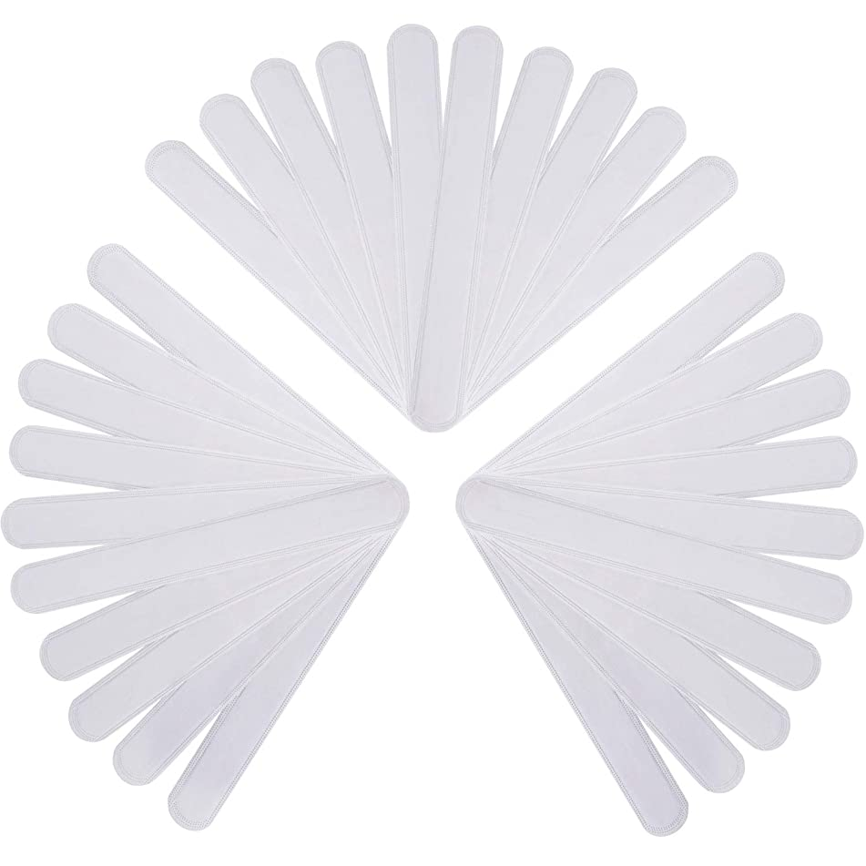 Teemico 30 Pcs Disposable Self-adhesive Collar Sweat Pads Neck Sweat Protector Neck Liner Pads Ring Around Collar for Women Men Prevent Shirt Sweat Stains White Collar Grime