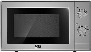 Four micro-ondes BEKO MOC20100S - Micro ondes 20 litres - 700 W - Silver - ouverture facile - Fonction décongélation - Pla...