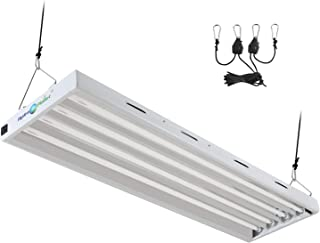 Hydroplanet T5 4ft 4lamp Fluorescent HO Bulbs Included for Indoor Horticulture Gardening T5 Grow Lights Fixtures (4 Lamp, ...