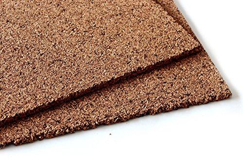 Placa aislante de corcho para aislamiento y aislamiento de paredes/techos/puertas/casas/suelos/suelo seco (100 x 50 x 1 cm)