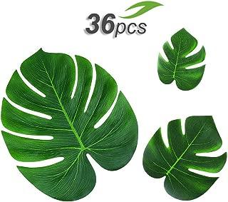 Gooidea 36pcs Tropical Palm Leaves Hawaiian Luau Party Decorations Artificial Leaves Garland Decor Impress Your Celebrations
