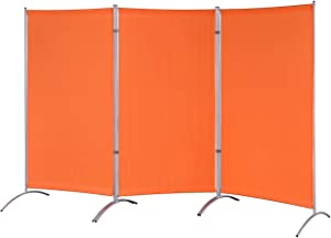 "Proman Products Galaxy Indoor Room Divider (3-Panels), 102"" W x 23"" D x 71"" H, Orange"