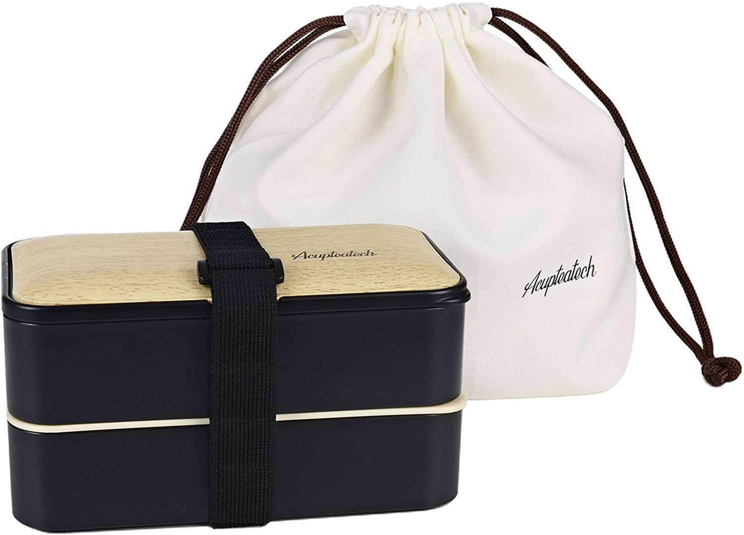 Lunch Bento Box with Upgraded Stackable Strap Adjustable Now on sale Reusab Product