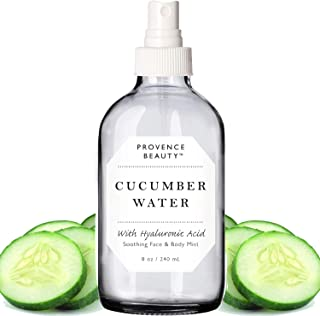 Provence Beauty | Face & Body Mist Spray - Soothing Cucumber Water With Moisturizing Hyaluronic Acid | Instant Soothing, Cooling, Conditioning | 8 FL OZ