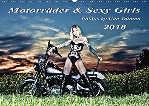Motorräder u. Sexy Girls 2018 (Wandkalender 2018 DIN A2 quer): Stilvoll gestaltete Bilder mit schweren Maschinen und heiße Girls (Monatskalender, 14 ... [Kalender] [Jun 14, 2017] Talmon, Udo