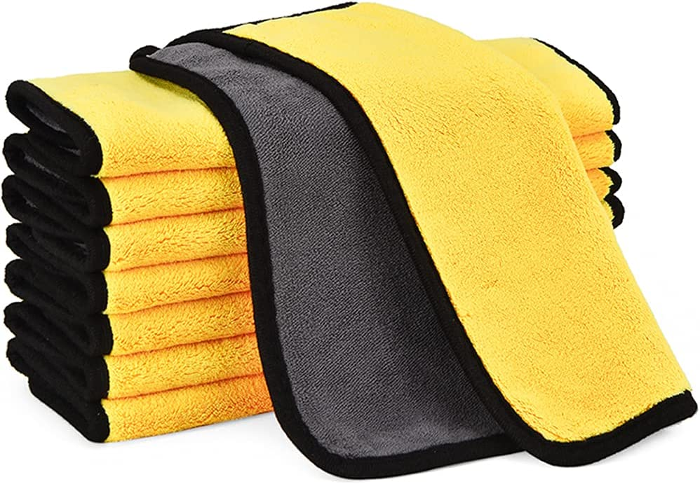 8Pack 800GSM Microfiber Towels Quick-Drying Soft and Thick for H