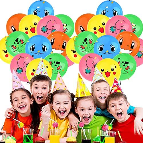Globos para fiestas de Niños, 12Pcs Foil Balloons Cumpleaños Fiesta Decoracion Temática Dibujos Animados 12inch Globos de Helium Foil Balloons para Niños Decoraciones Suministros (C)