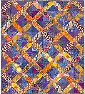 Kaffe Fassett Eclectic Quilt Kit (Blue) Featuring Kaffe Fassett Artisan Fabric (Top and Binding)