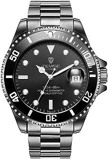 Fghdf Fit TEVISE Relogio Automático Relojes Hombres Submariner Reloj de Negocios Masculino Relojes de Pulsera Impermeable Reloj Masculino Caja de Regalo