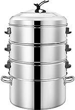 Steamer Stainless Steel Steamer Household Large Capacity Stainless Steel Steamer Steamer Gas Induction Cooker Universal 40...