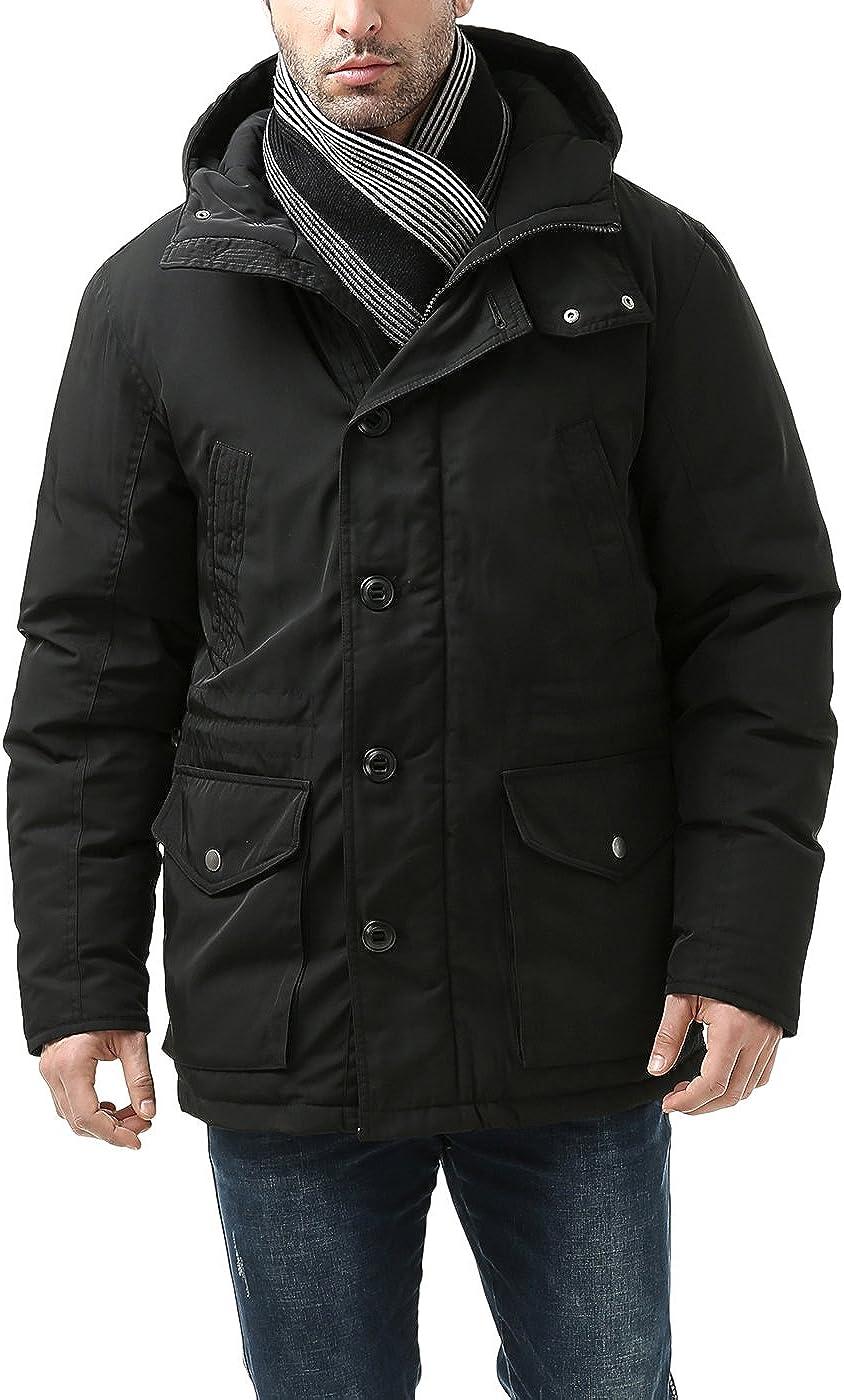 BGSD Men's Tommy Hooded Waterproof Down Parka Coat (Regular & Big and Tall)