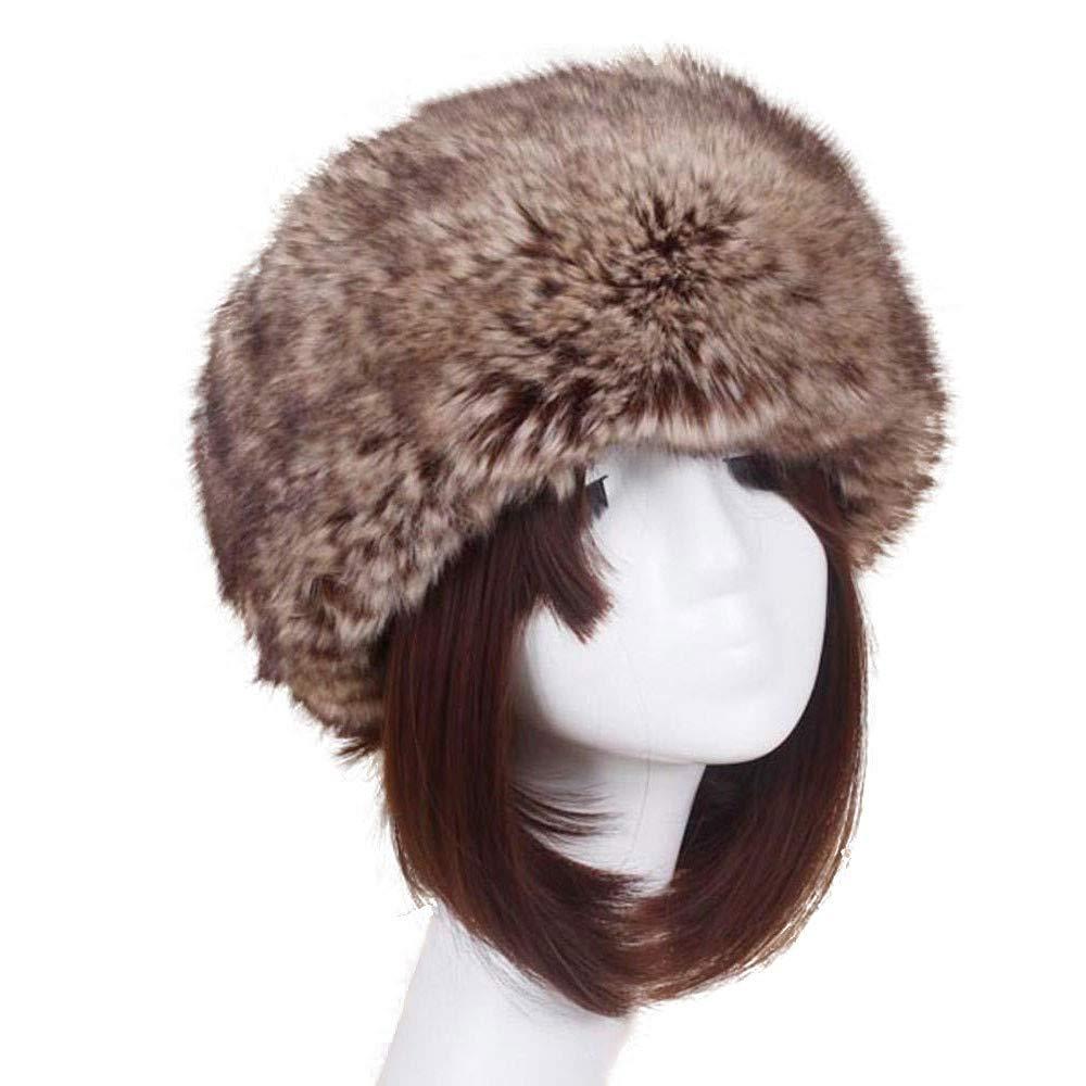 Beige Handmade Women Hats Womens Winter Faux Fox Fur Hat Male Cap Men Soft Ski Headdress Warmer Keep Warm Manual Wool Beanie Caps Female Headgear XGao Fur Hats for Women