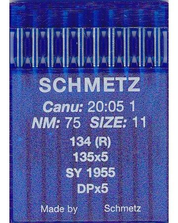 Schmetz Agujas industriales para máquina de coser: 134 (R) – 75/11 (paquete de 10) – Compra 2 obtén 3 ª gratis + Enhebrador de agujas (3 paquetes por el precio de 2)