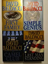 Set of 4 First Edition First Print Suspense Thrillers by David Baldacci: Last Man Standing, The Camel Club, Simple Genius, and First Family