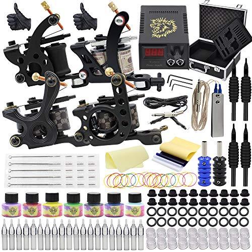 Autdor Tattoo Kit - 147Pcs Complete Tattoo Machine Kit Including...