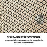 Klarstein HeatPal Marble Blackline Infrarot-Heizung mit Thermostat - mobiles Heizgerät, Standheizgerät, 1300 Watt, Räume bis 30 m², Wärmespeicherfunktion, Marmorplatte, kupferfarben - 4