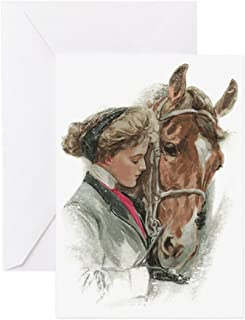 CafePress Vintage Girl And Horse Greeting Card, Note Card, Birthday Card, Blank Inside Matte
