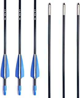 ANTSIR 28-30 Archery Target Arrows-Durable Shaft for Adult Training or Kid,with Steel Tip for Recuve &Traditional Bow
