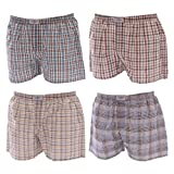 4 Pack tonos calzoncillos bóxer para hombre de cuadros y rayas multicolores para pared talla L - 6