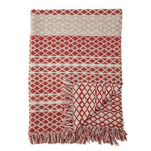 Bloomingville Plaid, rouge, coton