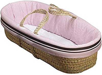 Baby Doll Bedding Hotel Style Moses Basket, Pink
