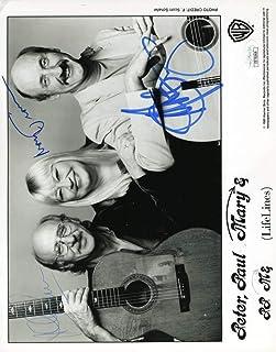 Peter Paul Mary Coa Hand Signed 8x10 Photo Autograph - JSA Certified