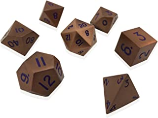 Norse Foundry Set of 7 Mystic Copper Full Metal Polyhedral Dice by RPG Math Games DnD Pathfinder …
