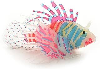Vacally Artificial Fish Aquarium Decorative Lamp Virtual Ocean in Motion Aquarium Artificial Fish Silicone Lionfish Floating Decorations