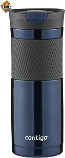 Contigo SnapSeal Byron Vacuum-Insulated Stainless Steel Travel Mug, 20 oz, Monaco(Leak-Proof Lid)