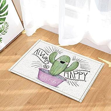NYMB Christmas Plant Decor, Cartoon Cute Succulent Cactus for Kids Bath Rugs, Non-Slip Doormat Floor Entryways Indoor Front Door Mat, Kids Bath Mat, 15.7x23.6in, Bathroom Accessories