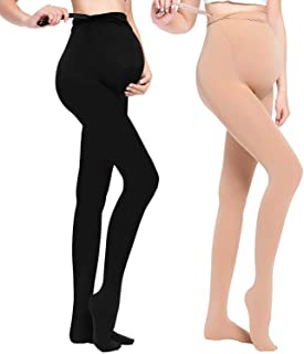 LOVELYBOBO 2 Pack Strumpfe & Strumpfhosen Opaque Umstandsstrumpfhose Unterstutzung Leggings Mutterschaft Hose fur alle Phasen der Schwangerschaft Damen 320D