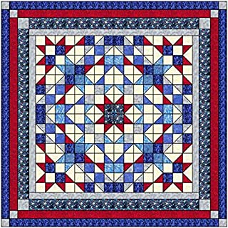 Quilt Kit Beacon of Light Patriotic, Red White and Blue/Queen