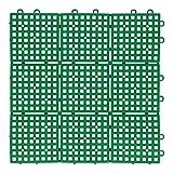 コーナン オリジナル パッチングデッキ 約 30 × 30cm グリーン ジョイントマット ジョイントデッキ フロアデッキ 水はけ ベランダ コーナン グリーン
