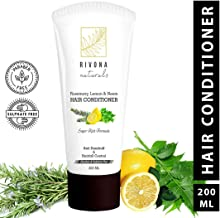 RIVONA NATURALS Hair Conditioner with Argan Oil, Rosemary, Lemon and Neem Anti-Dandruff and Paraben and Sulphate-free, 200 ml