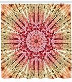 taquxinlaowan Stoff Duschvorhang Batik Hippie Rot Braun Druck für Badezimmer