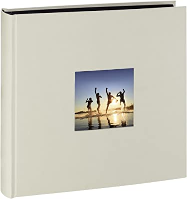 """Hama Album Photo """"Fine Art"""" (format 30 x 30 cm, 100 pages noires, sans spirale) Craie"""