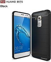 GELZU Huawei Maimang 5 Case,Ultra Light Carbon Fiber Armor Dropproof ShockProof Brushed Silicone Grip Case For Huawei Maimang 5 (Color : Black)