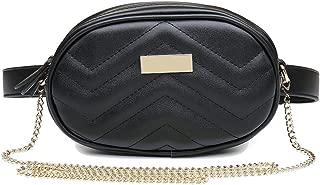 Badiya Oval Shape Women's Waist Fanny Packs Bum Bags Wide Strap Heart Shoulder Bag