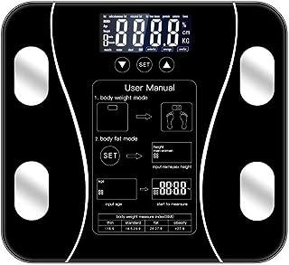 Balanza de baño,báscula de grasa corporal Piso científico inteligente electrónico LED Peso digital,artefacto de pérdida de...