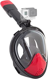 HAITRAL Full Face Snorkel Mask 180° Wide View Easy Breathe Gopro Compatible with Anti-Fog and Anti-Leak