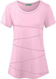 Kimmery Women's Short Sleeve Yoga Tops Activewear Running Workout T-Shirt