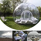HUKOER Luxurious Outdoor Single Tunnel Inflatable Bubble Tent Family Camping Backyard Transparent