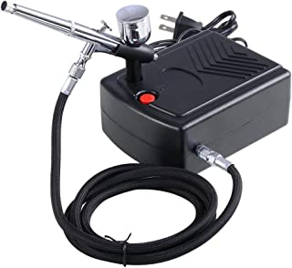 AW Pro Makeup Airbrush Kit 0.3mm Dual-Action Spray Gun Air Compressor Tattoo Hobby Decoration