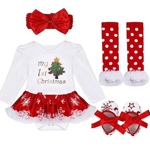 iiniim Infant Baby Girls Christmas Costume Halloween Pumpkin Tutu Romper  with Headband Outfit Set 74a76510ffe