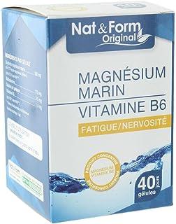Nat Form magnésium marin vitamine B6 40 gélules