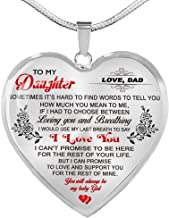 father and daughter necklace