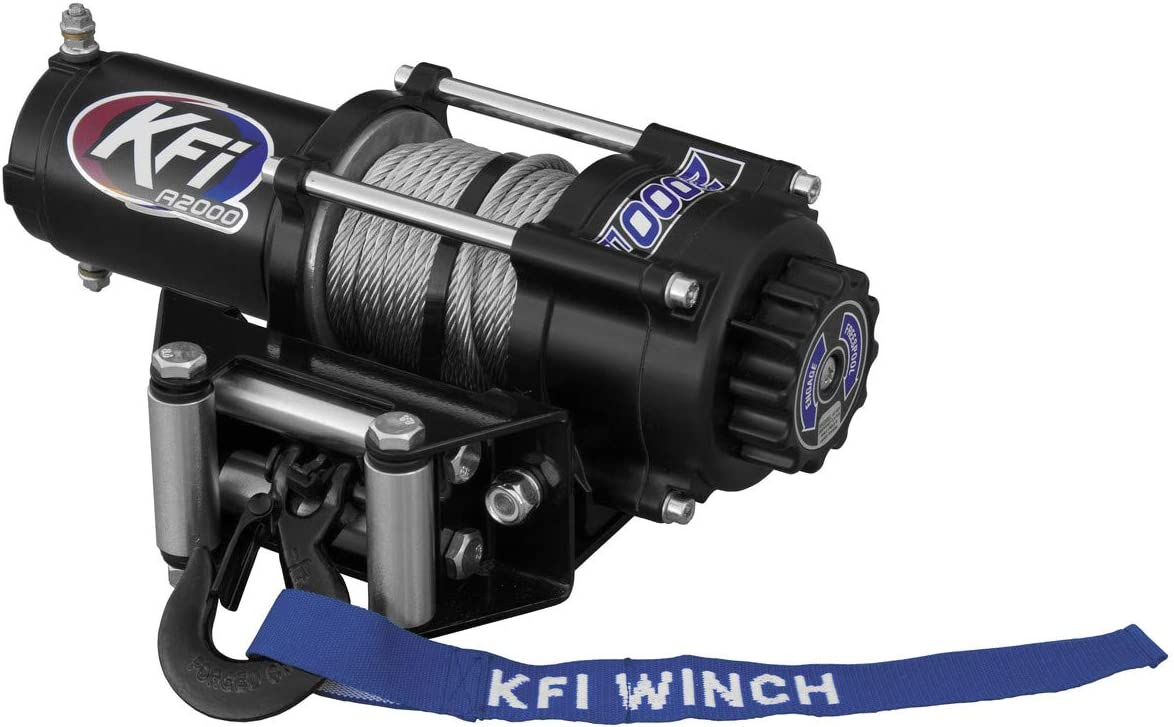New KFI Super sale period limited 2000 lbs. Winch Model Wire Specific Weekly update Moun Cable